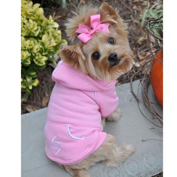 Sport Dog Hoodie - Carnation Pink - Tiny - Big Dog Sizes