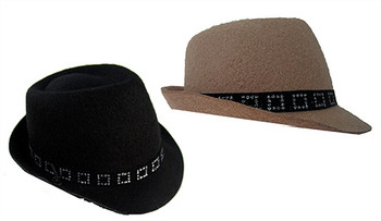 Felt Fedora Pet Dog Hat