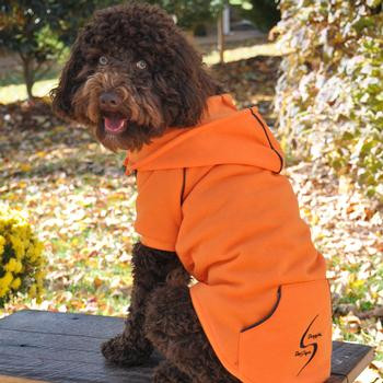 Sport Dog Hoodie - Orange Popsicle - Tiny - Big Dog Sizes