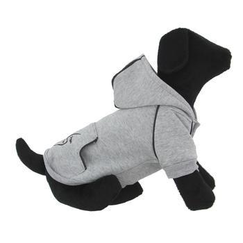 Sport Dog Hoodie - Glacier Gray - Tiny - Big Dog Sizes