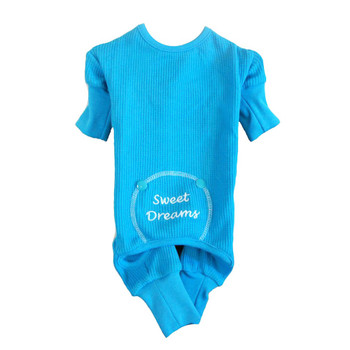Blue Sweet Dreams Thermal Dog Pajamas