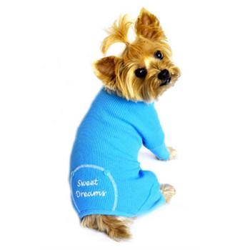 Blue Sweet Dreams Thermal Dog Pajamas