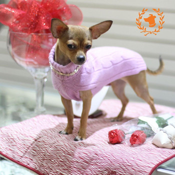 Cashmere Dog Sweater - Gray or Pink