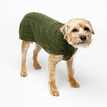 Cashmere Dog Sweater - Brown or Green