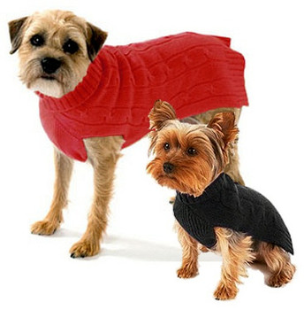 Cashmere Dog Sweater - Red or Black
