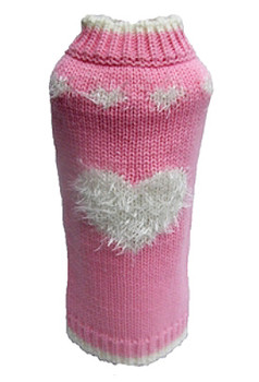 Pink Fluffy Sweetheart Dog Sweater
