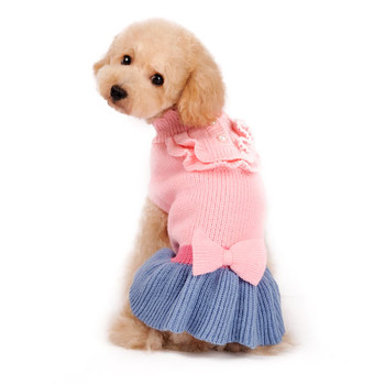 Elegant Lady Dog Sweater Dress