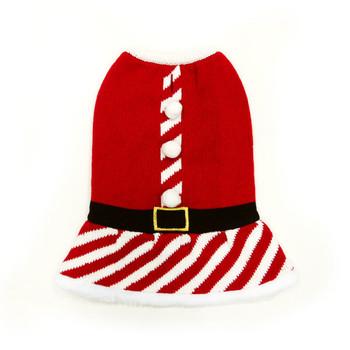 Santa Girl Dog Sweater Dress