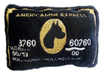 Americanine Express Bark Card Plush Dog Toy