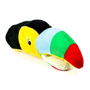 Tommy the Toucan Teasers Hand Pup-Pet Plush Dog Toy