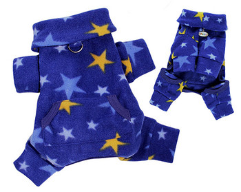 Midnight Stars Fleece Dog Pajamas