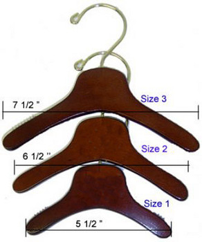 Wooden Dog Hangers - Solid Wood with Mahogany - 3 Sizes