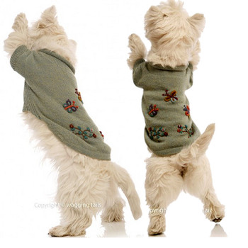 Alpaca Dog Sweater - Dragonflies