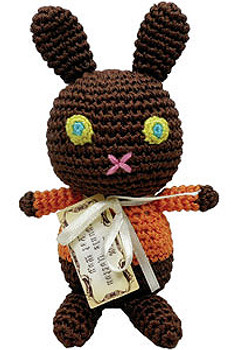 Yummy Choco Bunny Organic Cotton Crocheted Dog Toys