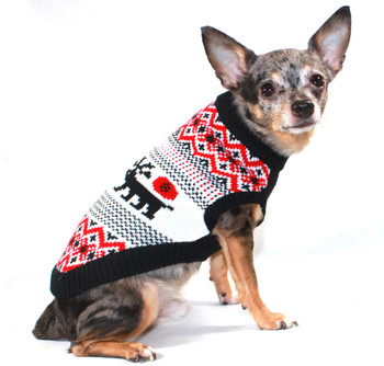 Moose Lodge Dog Sweater
