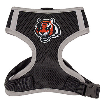NFL Cincinnati Bengals Dog Mesh Harness - Big Dog Sizes Too!