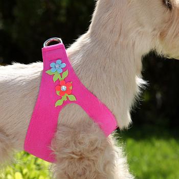 Secret Garden Pink Sapphire Dog Harness by Susan Lanci