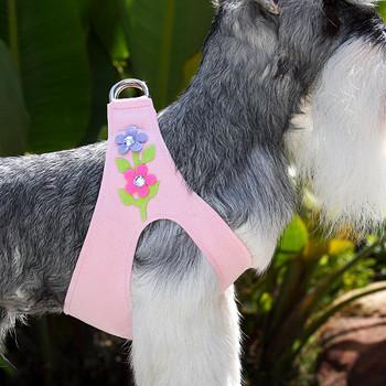 Secret Garden Puppy Pink Dog Harness by Susan Lanci -XS
