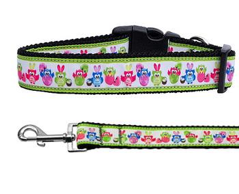 Easter Birdies Nylon Ribbon Dog Collar & Matching Leash
