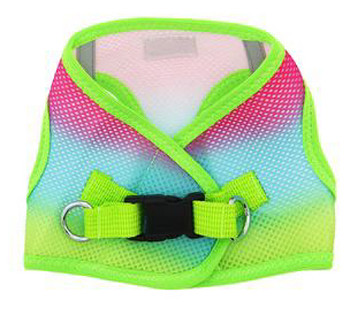 Ombre Collection American River Choke Free Dog Harness, Rainbow 1 - 50 lbs