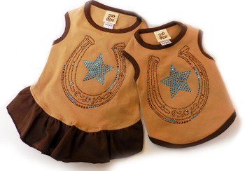 Western Lucky Star Dog Tank or Dress