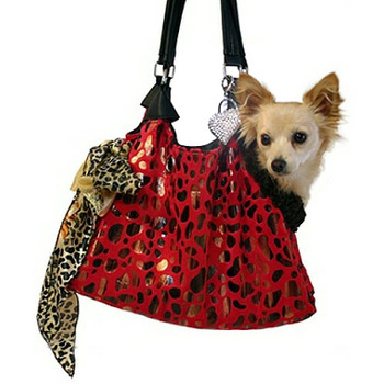 Red RunAround Pet Dog Tote by Pet Flys