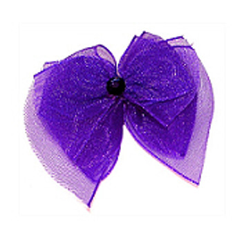 Dog Bows - Royal Purple Fairy Wings Bow Barrettes