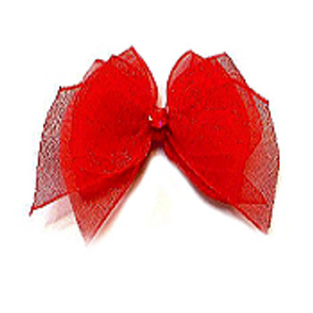 Dog Bows - Red Fairy Wings Bow Barrettes