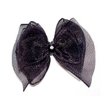 Dog Bows - Black Fairy Wings Bow Barrettes