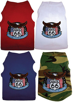 Route 66 Patch Dog Tank