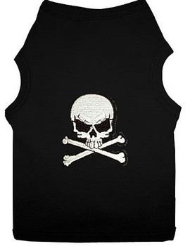 White Skull Patch Dog Tank