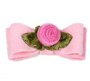 Puppy Pink Sweetheart Rose Dog Hair Bows - Susan Lanci
