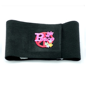 Black Peace Sign Dog Wizzer Bellyband