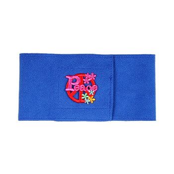 Royal Blue Peace Sign Dog Wizzer Bellyband