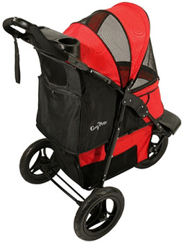 Ruby Red G7 Jogger Pet Stroller - Pets up to 75 lbs