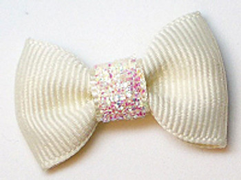 Dog Hair Bow Barrette - Precious Cream