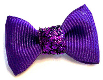 Dog Hair Bow Barrette - Precious Purple