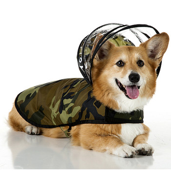 Woodland Camo Dog Raincoat - Puddle Jumper Line - Big Dog Sizes Too!