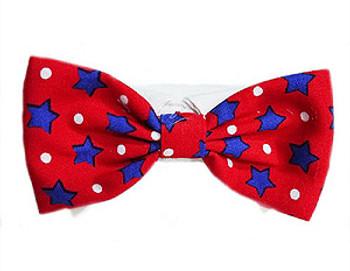 Patriotic Charlie Bow Tie & Dog Collar