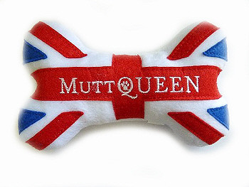 MuttQueen Bone Plush Dog Toy