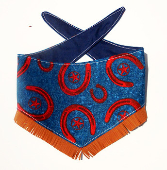 Dog Bandana - Horseshoes - Navy