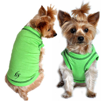 Sport Dog Tank Top - Green Flash - Tiny - Big Dog Sizes