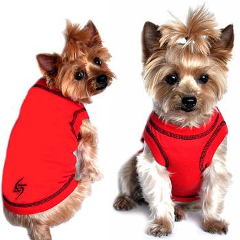 Sport Dog Tank Top - Scarlet Red - Tiny - Big Dog Sizes