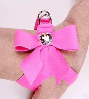 Susan Lanci Perfect Pink Tail Bow Step-In Harnesses