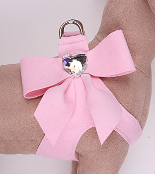 Susan Lanci Puppy Pink Tail Bow Step-In Harnesses