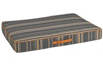 Outdoor Rectangular Patio Cushion Dog Bed Mattress- Cabana Stripe