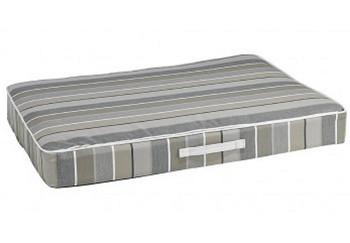 Outdoor Rectangular Patio Cushion Dog Bed Mattress- Boardwalk Stripe