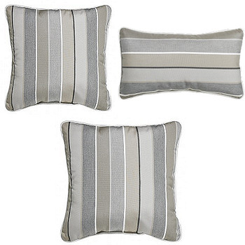 Outdoor Throw Pillows - Boardwalk Stripe