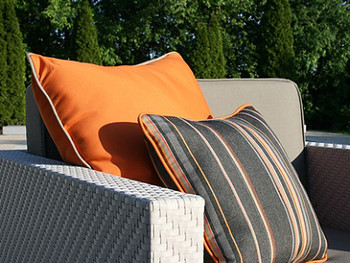Outdoor Throw Pillows - Cabana Stripe