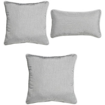 Outdoor Throw Pillows - Heather Grey